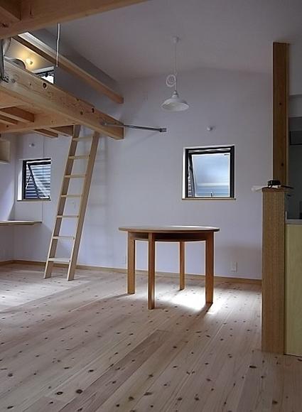 テーブルと梯子